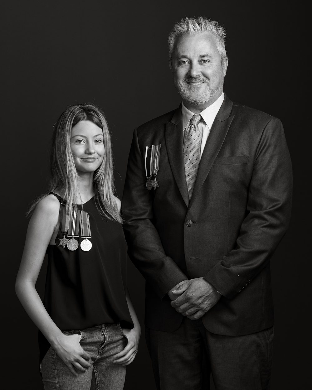 Jaimie Whitham and his stepdaughter Lily