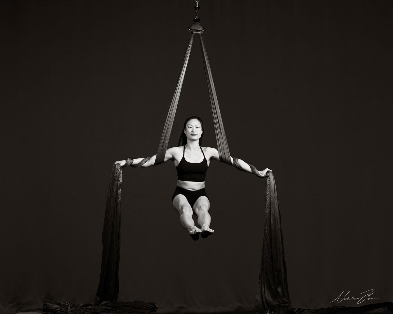 Circus Aerial silks artist