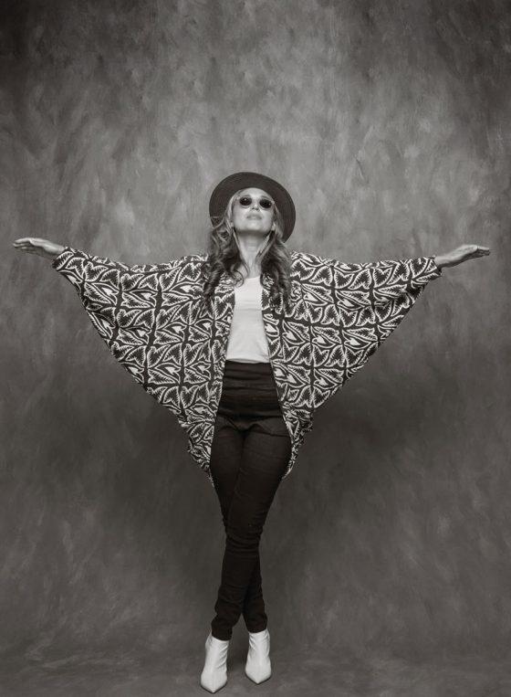 Black and white portrait of Sydney singer and songwriter Niyati Libotte of band Goldfynch.