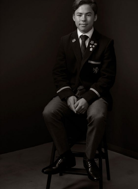 Black and white portrait of Young Leader 2020 Ethan Cheung
