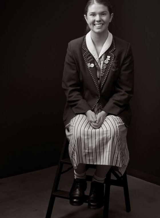 Black and white portrait of Young Leader 2020 Josie Connelly